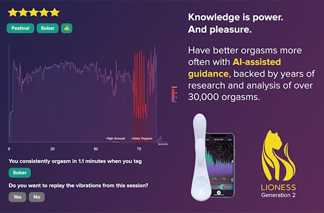 The Lioness 2 vibrator adds AI-assisted orgasms to its feature set