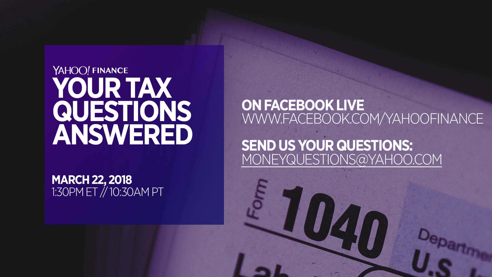Answers to viewer tax questions from our Live Q&A Video