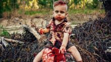 Mom slammed for organizing a zombie-themed photo shoot for her 1-year-old son