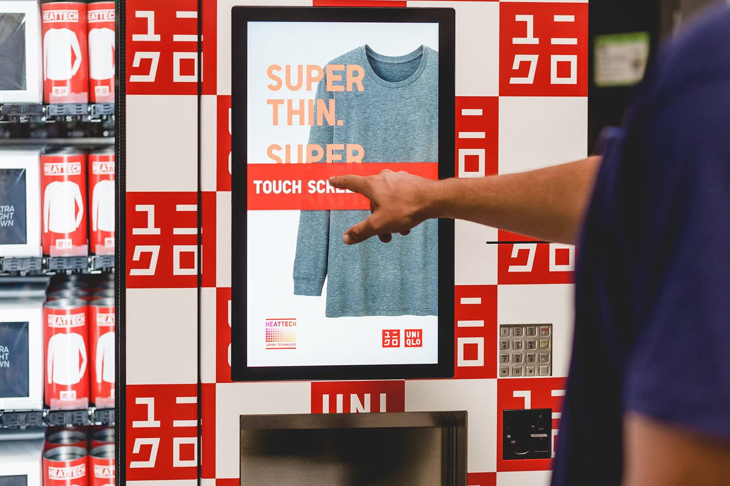 Uniqlo wants you to buy clothes from a vending machine