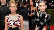 Jennifer Lawrence vs Miley Cyrus at Met Gala 2015