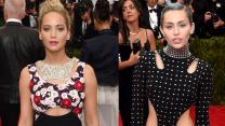 Jennifer Lawrence vs Miley Cyrus at Met Gala 2015