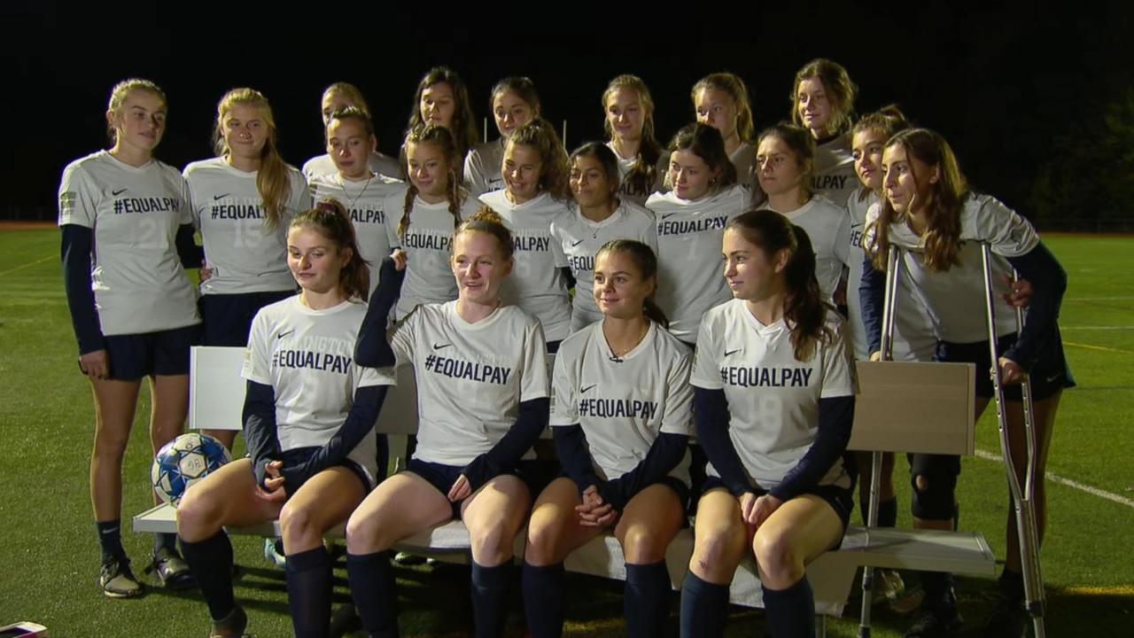 Girl's soccer team penalized for 'equal pay' jerseys