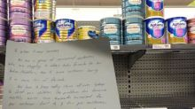 Parents struggling to find baby formula for children make desperate plea to Woolies