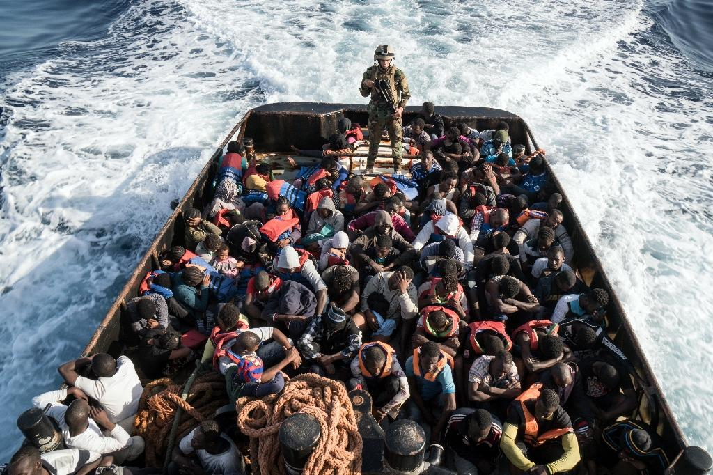 """Amnesty International has accused Italy and other EU governments of being """"knowingly complicit"""" in horrific abuses of migrants in Libya (AFP Photo/Taha JAWASHI)"""