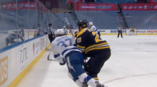 Bruins' Nick Ritchie crushes Yanni Gourde with late hit; suspension coming?