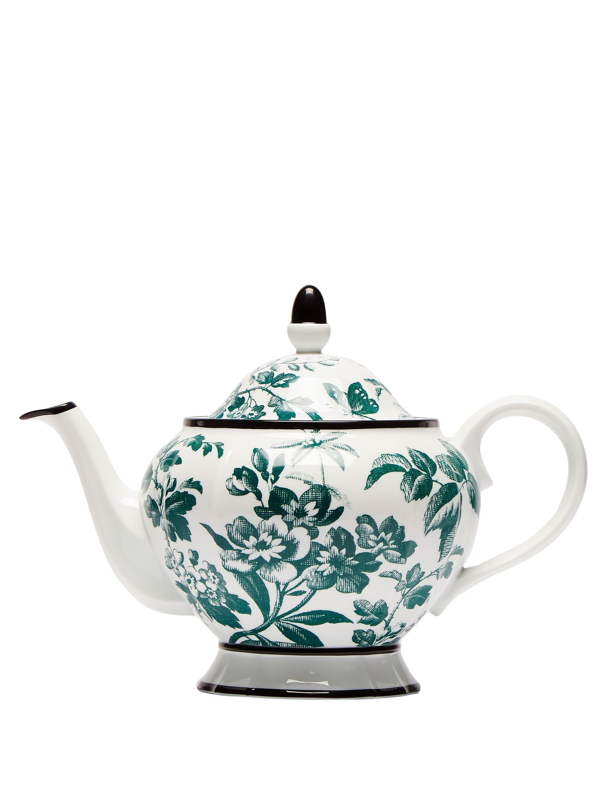"<strong>Gucci</strong> Herbarium teapot; $590. <a href=""https://www.matchesfashion.com"" rel=""nofollow noopener"" target=""_blank"" data-ylk=""slk:matchesfashion.com"" class=""link rapid-noclick-resp""><em>matchesfashion.com</em></a>"