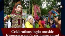 Celebrations begin outside Kumaraswamy's residence ahead of swearing-in ceremony