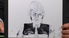 'Arrested Development' star's weird infatuation with drawing pictures of Trump
