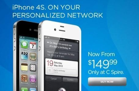 C Spire drops iPhone 4S price to $150, asks you for two years of commitment