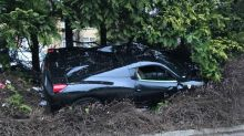 Ferrari owner crashes into front garden over 'issue with his accelerator'