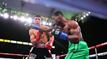 Boxing match ends in grotesque fashion after Jaime Munguia punches piece of opponent's lip off