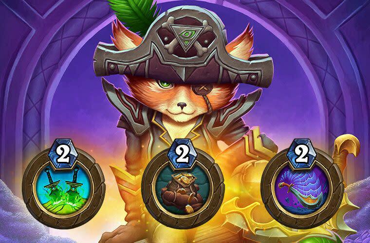 全新盜賊英雄尤多拉船長加入戰局,英雄能力(由左至右)為:匕首專精、我的!、切除
