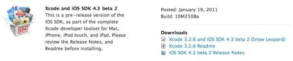 iOS 4.3 beta 2 released, iPad multitasking gestures just a developer preview