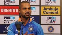 Shikhar Dhawan Shows Off India's New Jersey for Australia Series
