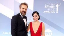 David Harbour wore Lily Allen's merch to their first date