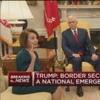 Watch Trump's heated meeting over border security with De...