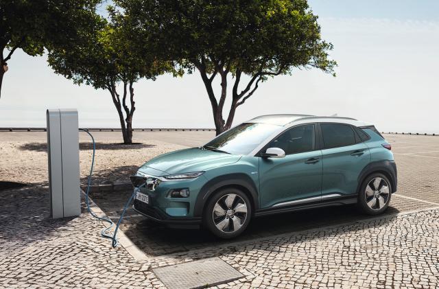Hyundai's Kona Electric SUV boasts a 292-mile range