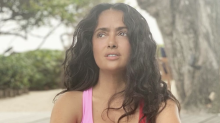 Salma Hayek, 53, shows off her curves in makeup-free bikini pic: 'You haven't aged a day'