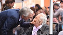 Michael Douglas Tears Up Over Dad Kirk, 101, at Walk of Fame Ceremony: 'So Proud to Be Your Son'