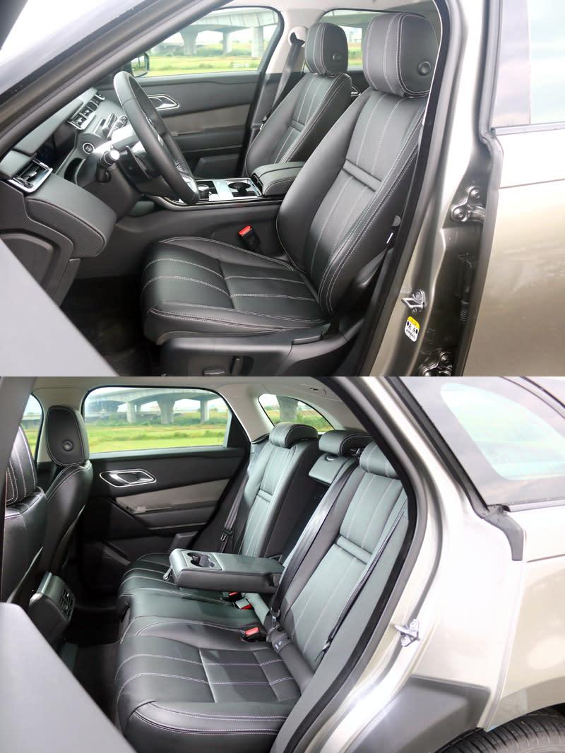 本次試駕的Range Rover Velar S P250為入門車型,座艙以黑色為基調搭配白色縫線,未搭配對比較明顯的飾板,顯得略為單調。