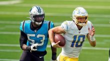 Panthers beat Chargers 21-16 for Rhule's first NFL victory