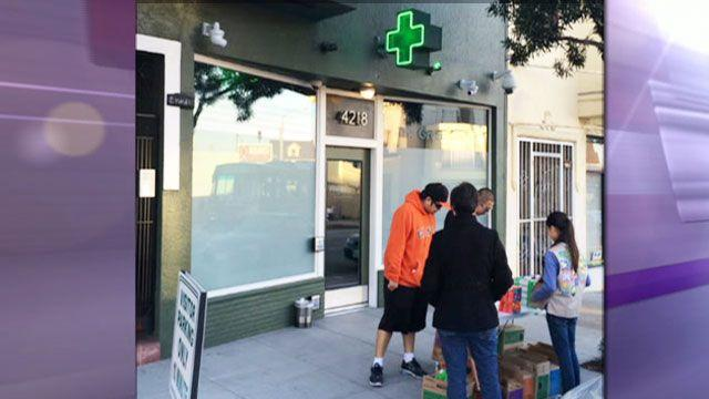 Girl Scout sells 117 cookie boxes in two hours outside pot dispensary