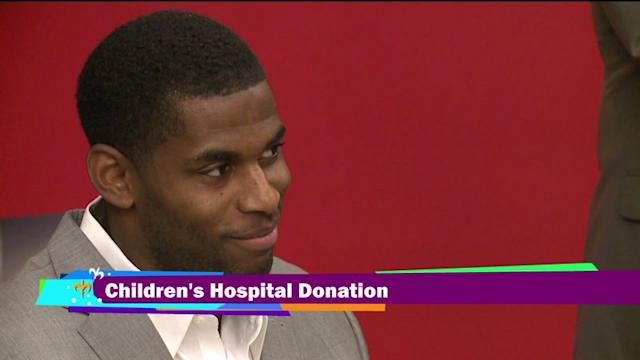 Marques Colston purchases equipment for Children`s Hospital