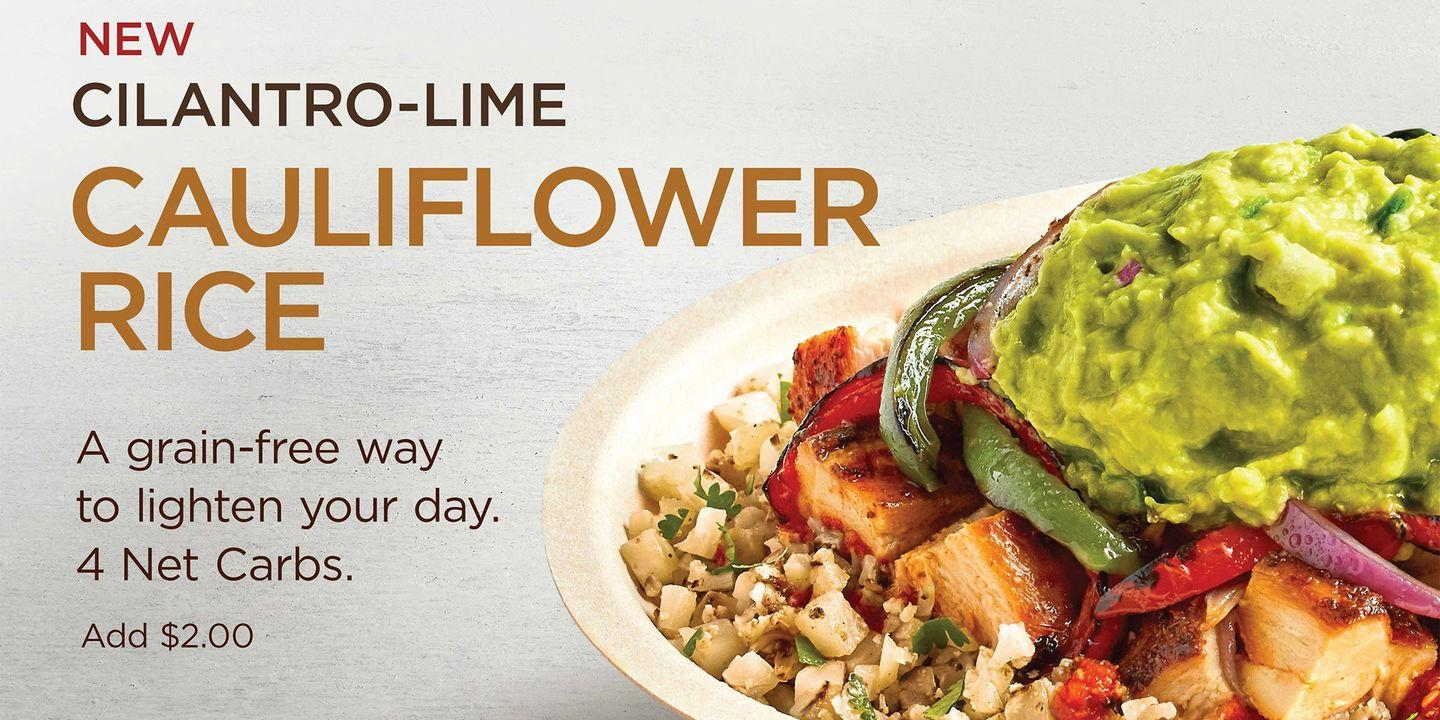 chipotle is testing cauliflower rice at select locations