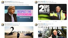Boris Johnson has posted 'get Brexit done' over 350 times on social media since start of election campaign