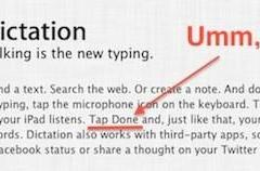 Apple gets iPad dictation instructions wrong (Updated)