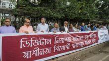 Bangladesh editors protest 'anti-press' digital law