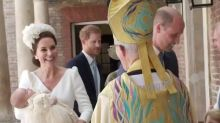 Another McQueen outfit for Duchess of Cambridge at Prince Louis' christening