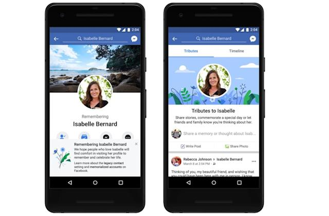 Facebook's Tributes tab collects memories of people who've died