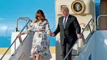 Trump llega a Tokio para una visita oficial que se extenderá hasta el martes