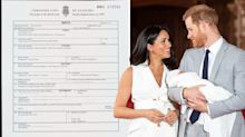 Royal baby birth certificate confirms where Meghan Markle gave birth