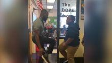 Teacher memorizes 75 handshakes with his 5th graders