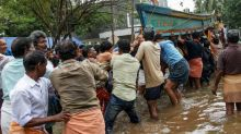 Kerala Flood: Locals form human chain to rescue fishermen from sea