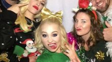 Blake Shelton and Gwen Stefani Sport Ugly Christmas Sweaters at RaeLynn's Engagement Party