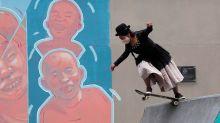 En fotos. Jóvenes bolivianas promueven el skate vestidas de cholas