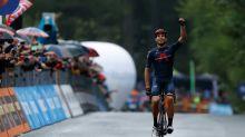 Tour d'Italie: Ganna roi de la piste... et de la moyenne montagne