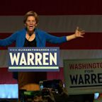 Warren congratulates Sanders on NV, hits Bloomberg
