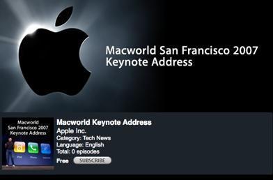 Macworld 2007 Keynote available on iTunes