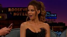 James Corden Uses Kate Beckinsale's Phone to Send Dirty Text to Chris Evans