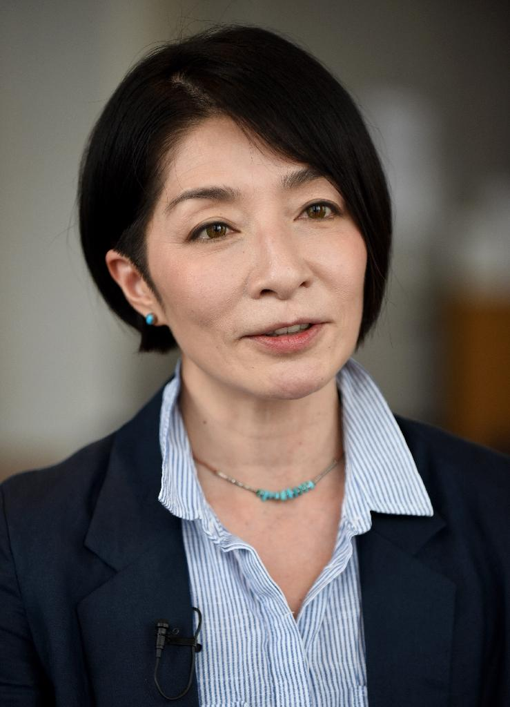 Japanese porn star-turned-novelist Mariko Kawana speaks during an interview with AFP, in Tokyo (AFP Photo/Toru Yamanaka)
