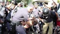 Protester Arrested in Sao Paulo Anti-World Cup Demonstration
