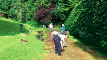 Furious residents told to replace grass over unwanted driveway that their NEIGHBOUR built