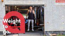 A bodybuilder created his own gym in a rented garage during the lockdown for less than £3K