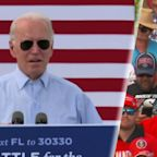 Trump, Biden hold dueling rallies in battleground Florida