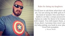 Dad's rules for dating his daughter aren't what you might think